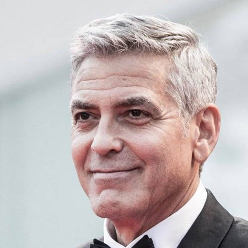 Sexy George Clooney Haircuts