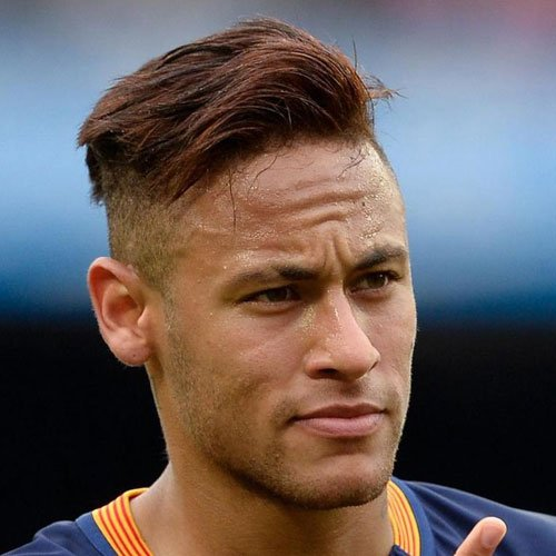 Best Neymar Haircuts - Comb Over Fade