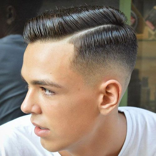 High Fade Side Part