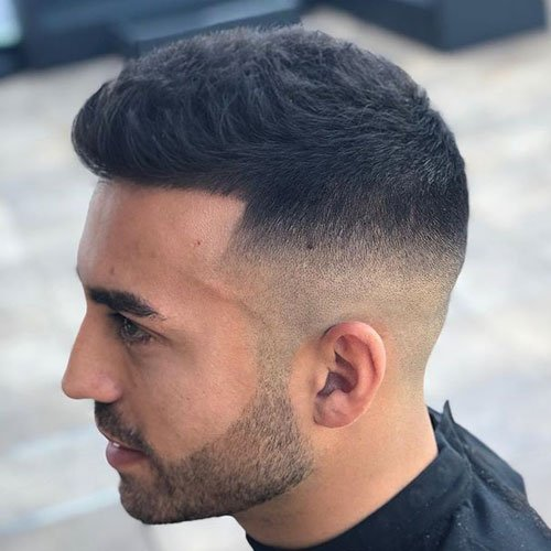 High Fade with Short Hair