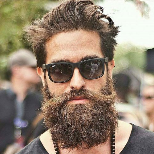 Hot Hipster Hairstyles - Textured Messy Hair + Short Sides + Thick Beard