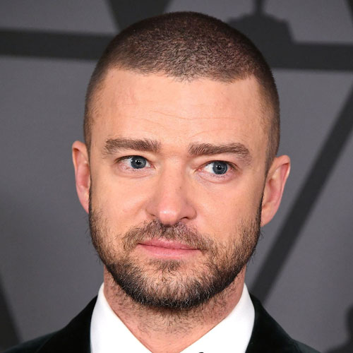 Justin Timberlake Short Hair with Full Beard