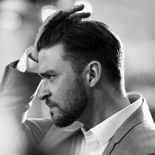Justin Timberlake Slick Back Hair