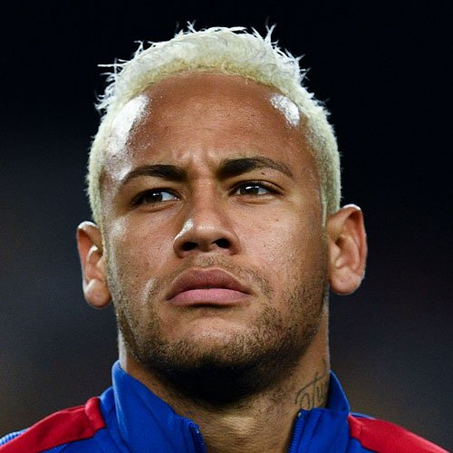 Neymar Hair - Messy Platinum Blonde Hair