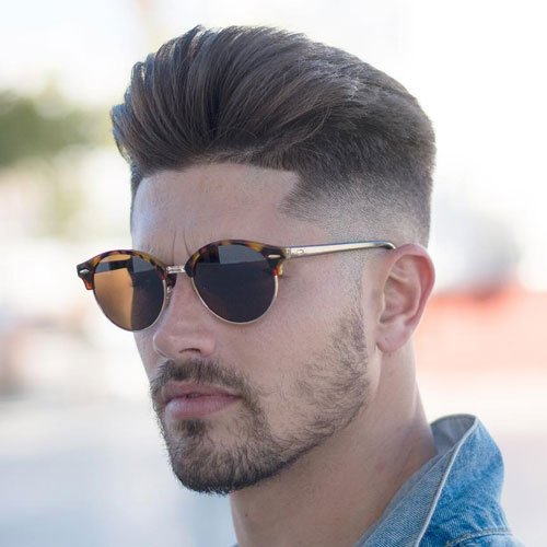 Pompadour Fade + Line Up + Facial Hair