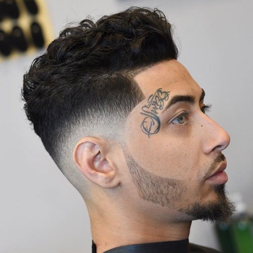 Best Haircuts For Men with Wavy Hair - Thick Wavy Hair on Top + Skin Fade + Line Up