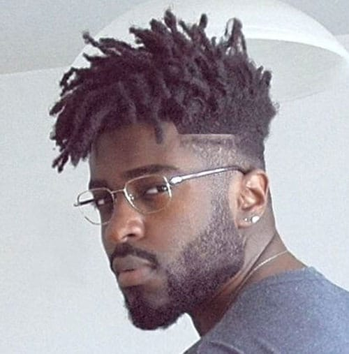 Black Men Hair - Mid Fade with Dreads
