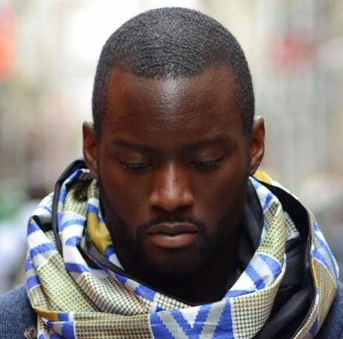 Black Men Haircuts - Buzz Cut with Beard