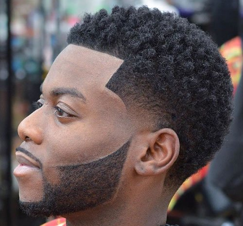 Black Men Haircuts - Temple Fade, Sponge Twists