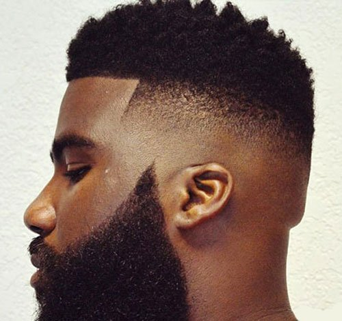 Delightful Black Men Hairstyles   Fade With Beard