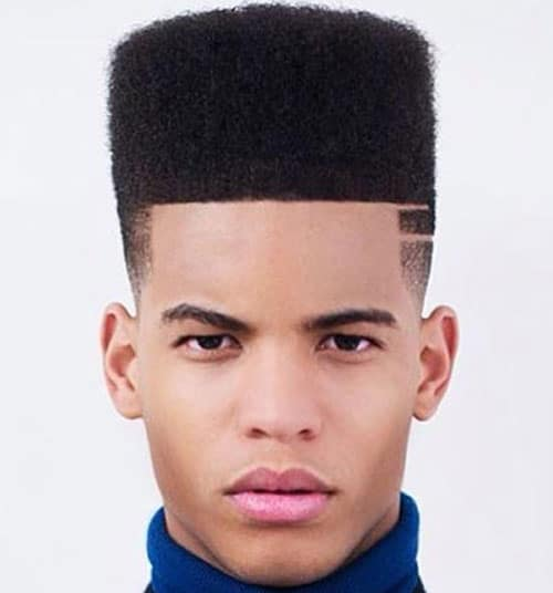 Black Men Hairstyles - Flat Top