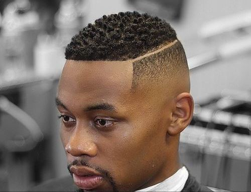 Black Men Hairstyles - High Fade with Disconnected Part