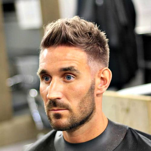Cool Guy Haircuts - Low Fade and Long Top with Beard