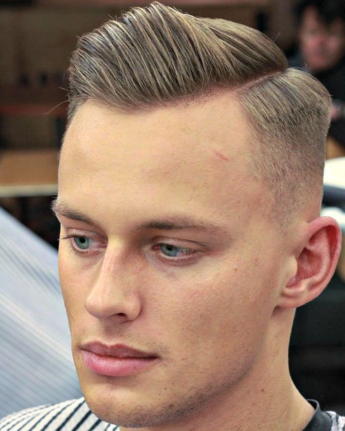 Cool Short Men's Haircuts - Short Sides with Hard Side Part