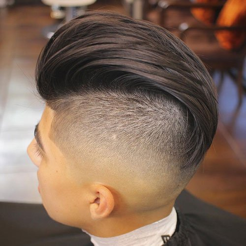 Disconnected Undercut with Slicked Back Hair