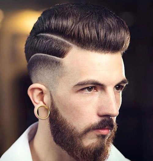 Fade Haircut - High Low Fade Pompadour