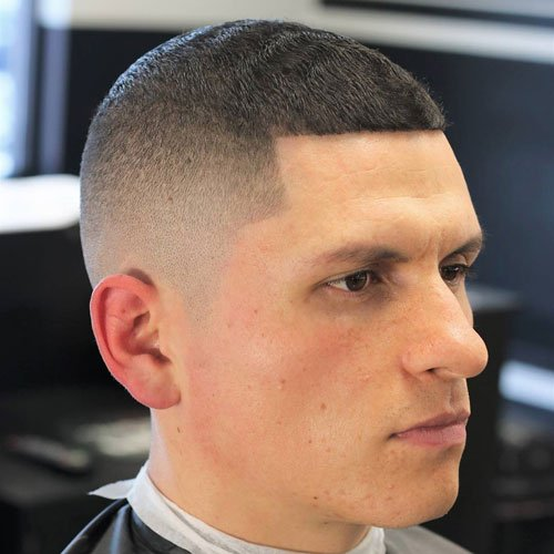 High Bald Fade + Line Up + Buzz Cut