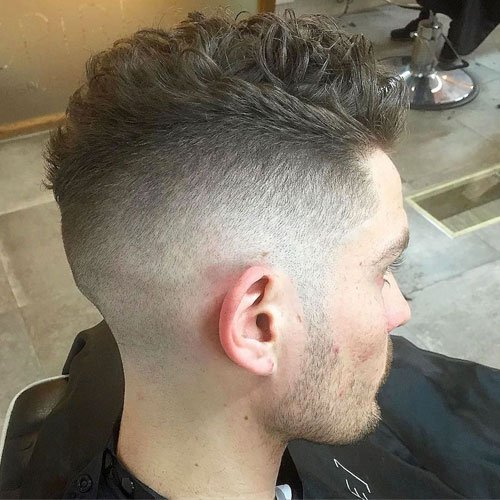 wavy hairstyles for men Fade + Natural Waves