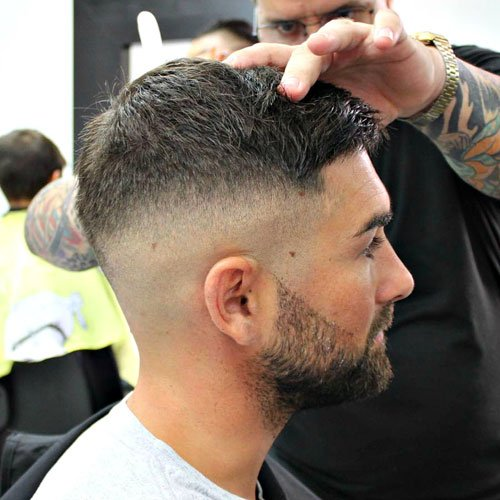 Fade haircuts with Crew Cut