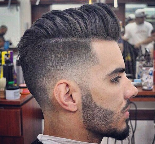 Razor Faded Pompadour