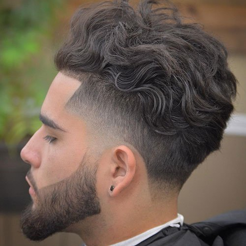 High Skin Taper Fade + Shape Up + Wavy Top