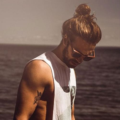 Long Hairstyles For Men - Loose Man Bun