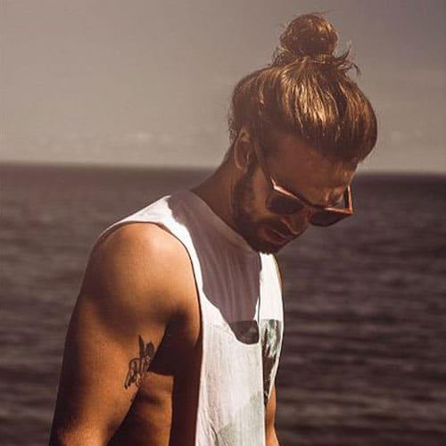 Long Hairstyles For Men - Loose Man Bun