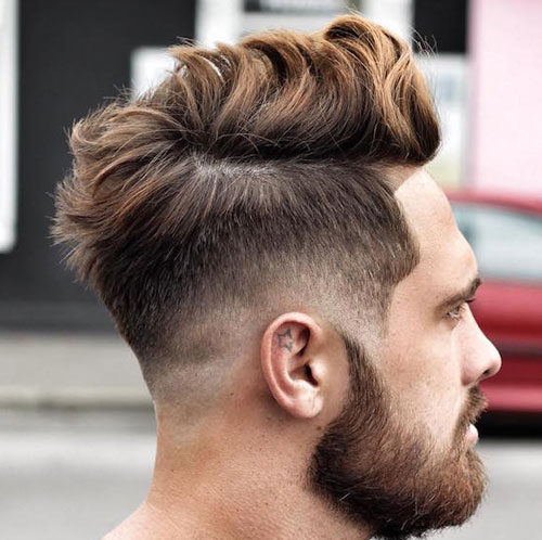 Best Hairstyles For Men Spiky Hair With Hard Part And Skin Fade Low Haircut
