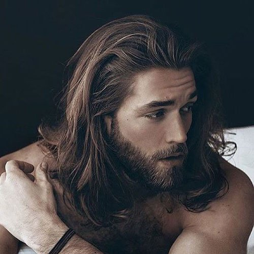 Men's Long Hairstyles - Long Hair with Beard