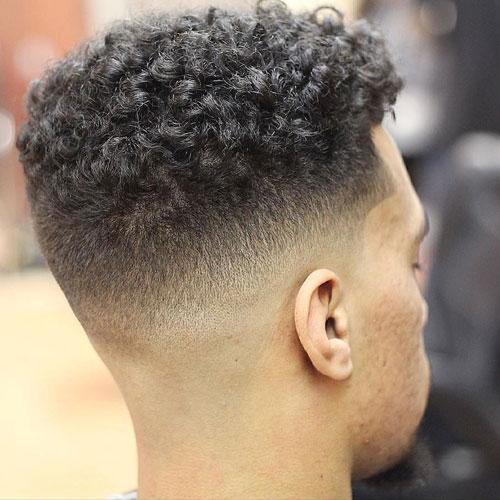 Mid Fade + Short Curls