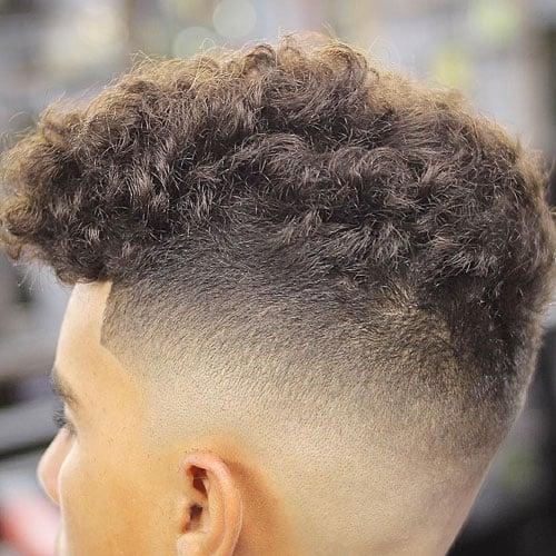 Natural Curly Hair Cut Short + High Skin Fade