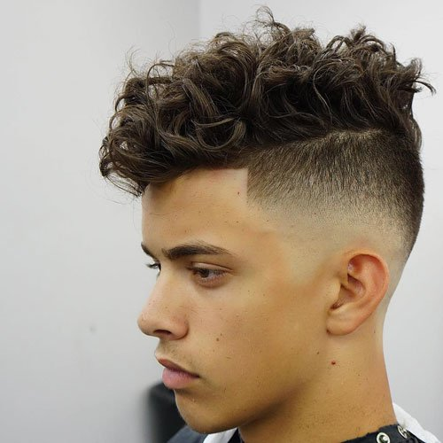 Skin Fade Undercut Longer Curly Hair
