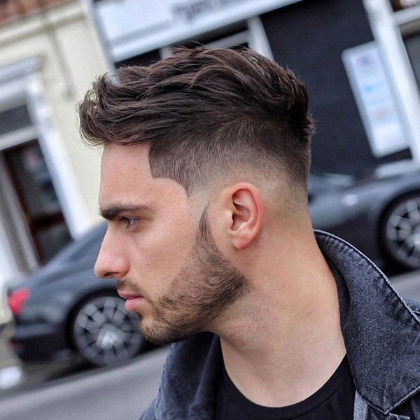 Textured Spiky Hair with Fade and Line Up