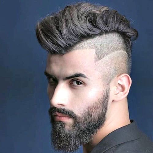 Undercut Haircut With Mohawk And Hair Design