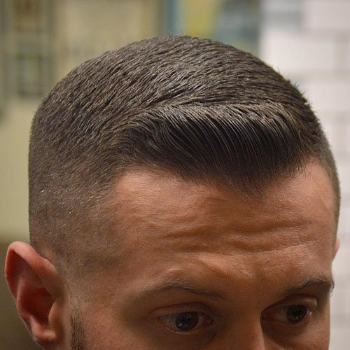 Tight Fade + Side Swept Fringe