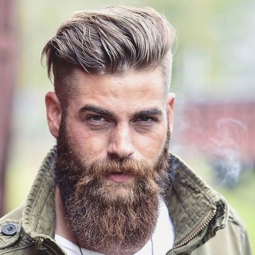 Undercut Brush Back Beard