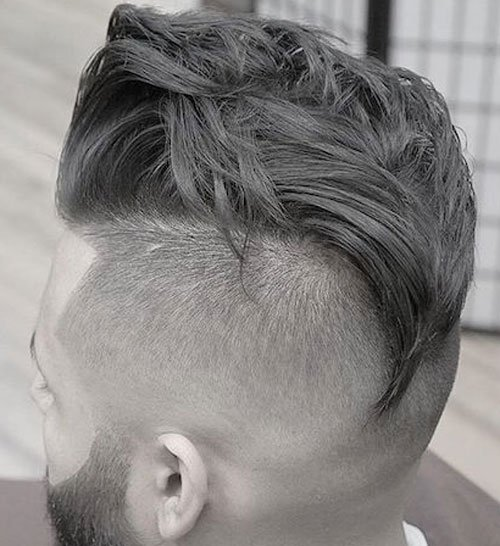 Undercut Hairstyle - Loose Curly Long Undercut