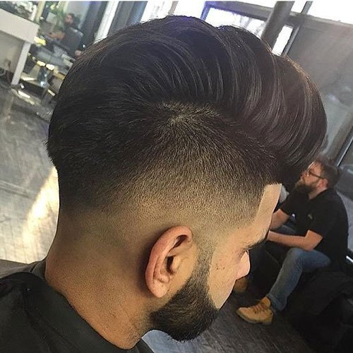 Undercut Hairstyle Men - Mohawk with Edge Up