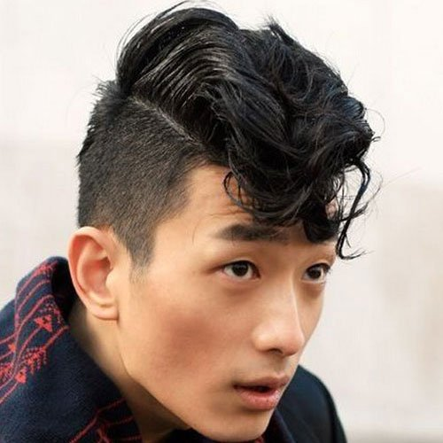 A Wavy Fringe On Top And Short Taper Fade On The Sides Becomes A Very Cool  Hairstyle For Asian Guys.