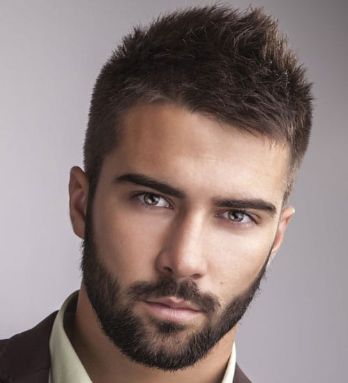 Perfect Cool Short Beard Trimming Style + Spiked Crew Cut. Hairstyles For Men ...