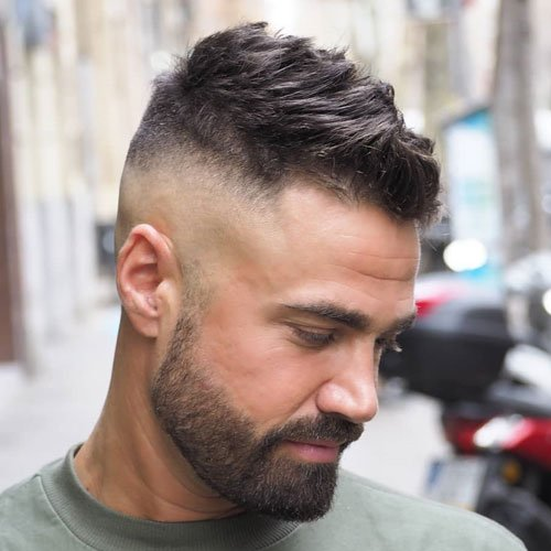High Skin Fade with Short Messy Top