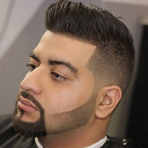 Medium length Haircuts High Taper Fade + Shape Up + Comb Over