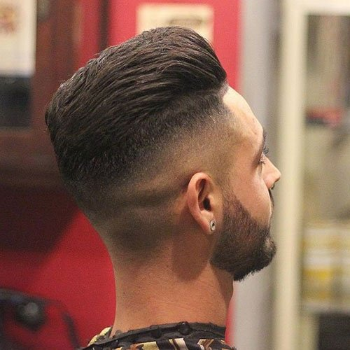 Hot Guy Haircuts - Skin Fade with Shape Up and Textured Slick Back