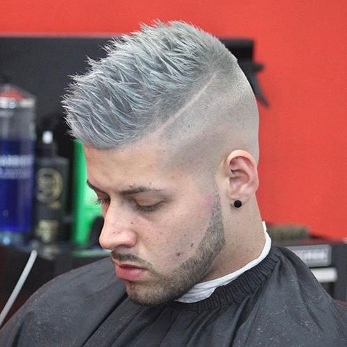 Hottest Men's Haircuts - Shaved Sides with Spiky Hair