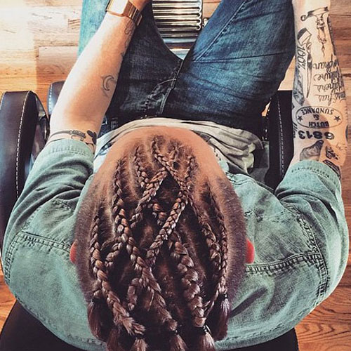 Cool Braids For Men 15 Braided Hairstyles For Guys Men39S Hairstyles Short Hairstyles For Black Women Fulllsitofus