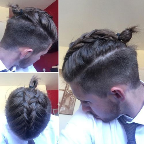 Undercut + Center Braids For Guys. Braided Hairstyles For Men