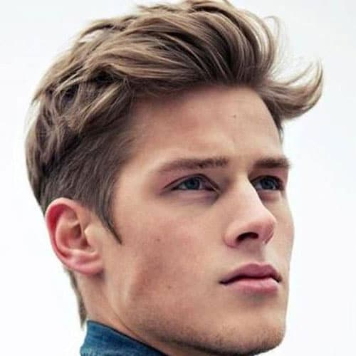 Medium length Haircuts Top + Classic Tapered Sides