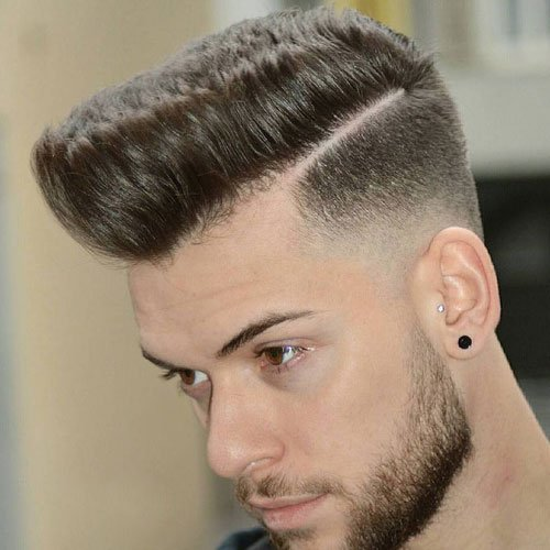 Pompadour Fade + Thick Part