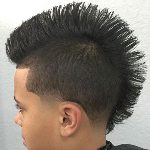 Taper Fade Mohawk with Long Hair