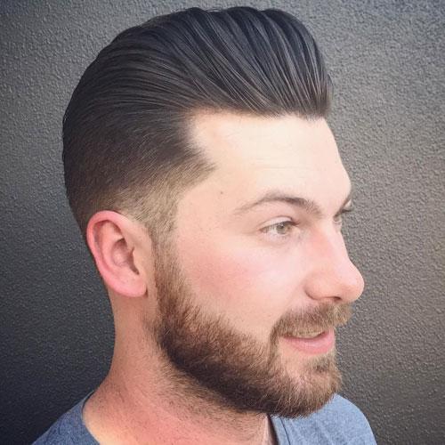 Classic Pompadour + Beard